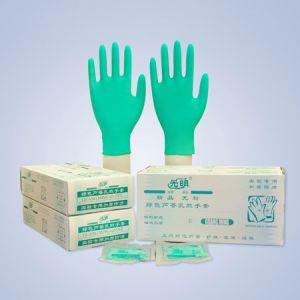 光明 GMRT0004M,精品无粉绿色芦荟乳胶手套(中号),灭菌包装,30双/盒,20盒/箱